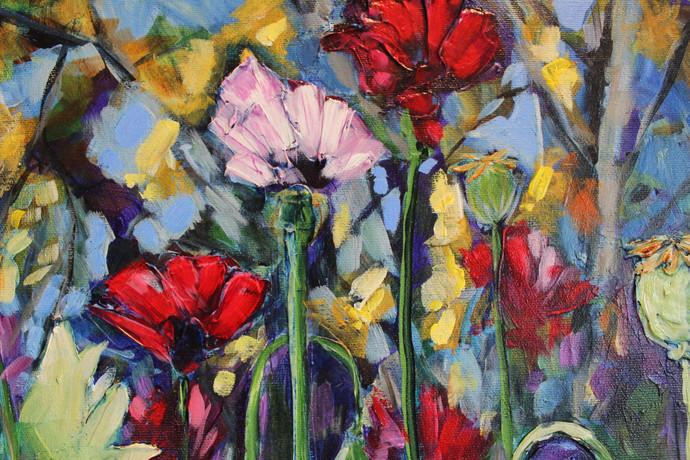 Susan's Poppies - Detail 2