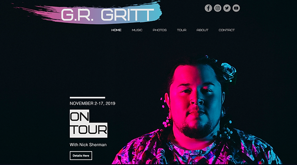 G.R. Gritt on a black background.