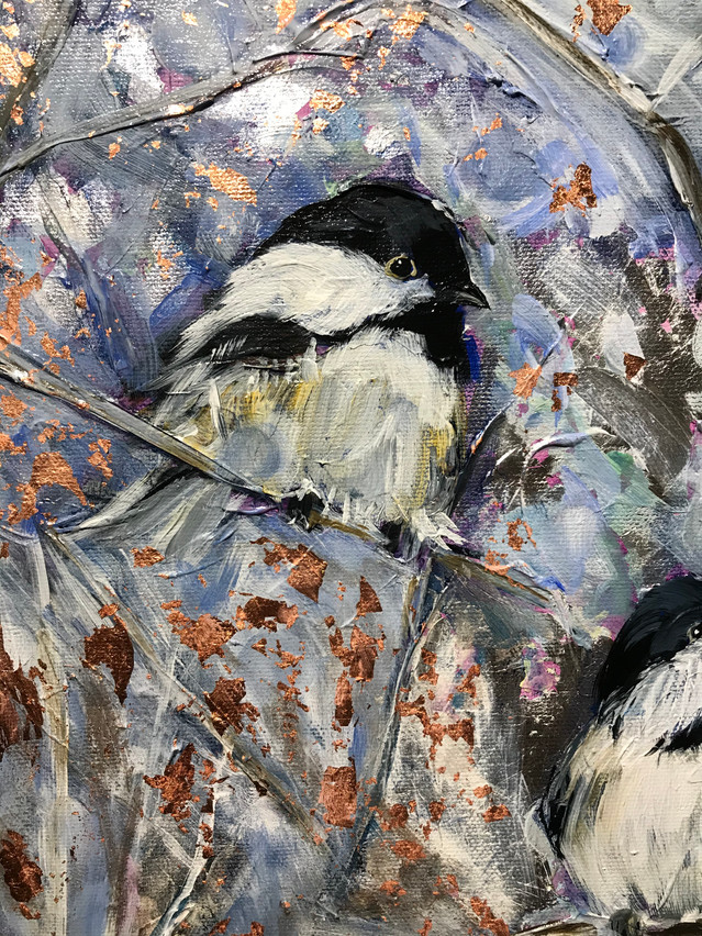 Grandpa's Chickadees - Detail 1