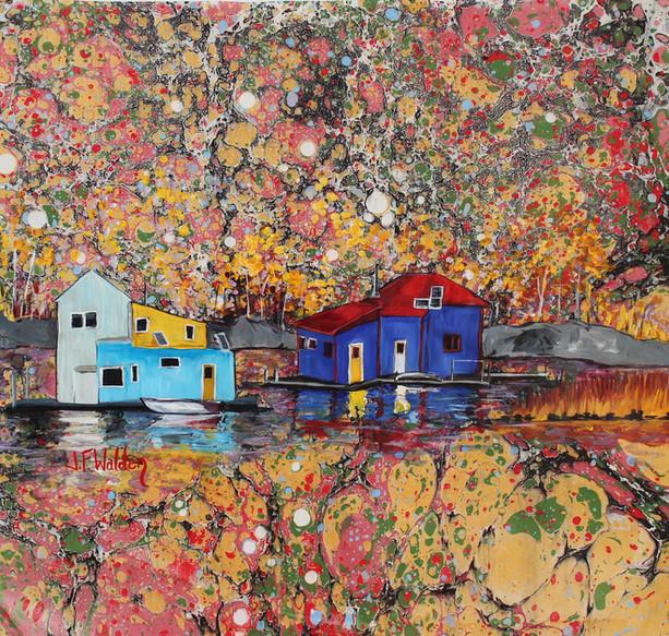 Houseboat Reflections