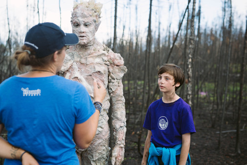 Director Talk in the Burnt Forest