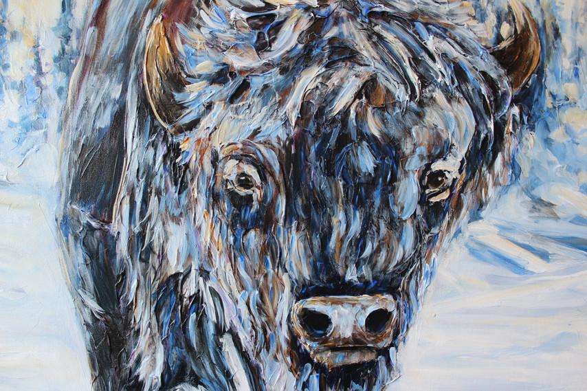 Frozen Bison - Detail 1
