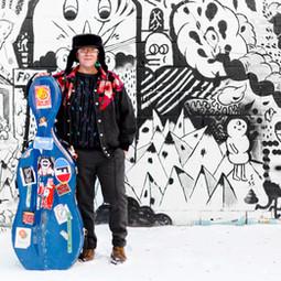 Cris Derksen - Winter Snow - Standing in front of graffiti
