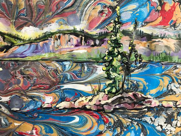 Big Lake Reflections - Detail 1