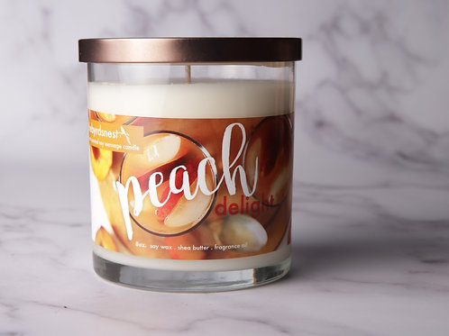 Peach Delight Massage Candle 8 oz.