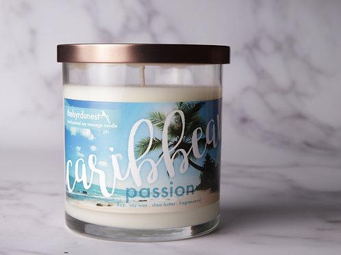 Caribbean Passion Massage Candle 8 oz.
