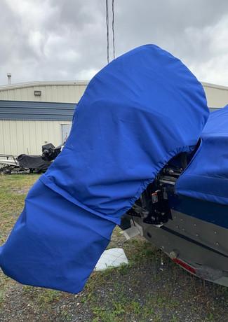 blue motor cover