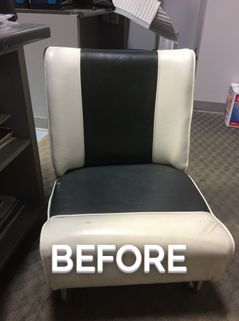 Upholstery striped seat