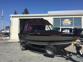 Black and Red Boat Top