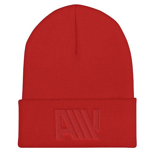Lean Back Monochromatic Red Cuffed Beanie