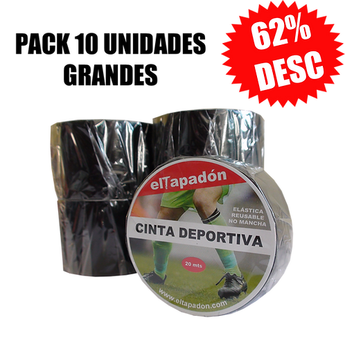 Pack 10 u - Sock Tape Negra Grande