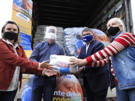 Prefeitura recebe doação de 17 toneladas de alimentos da Rede Condor
