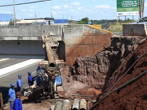 Viadutos do Contorno Norte recebem as fundações e pré-moldados são produzidos