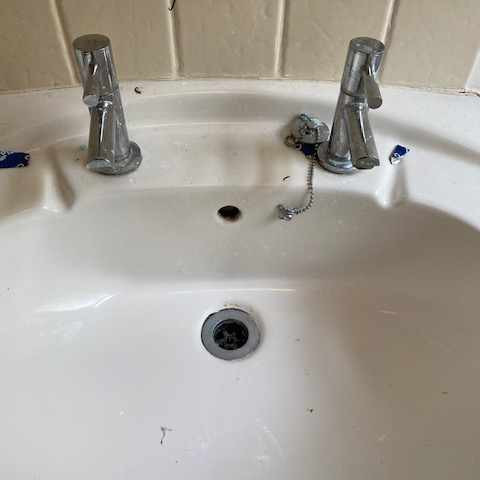 Basin before