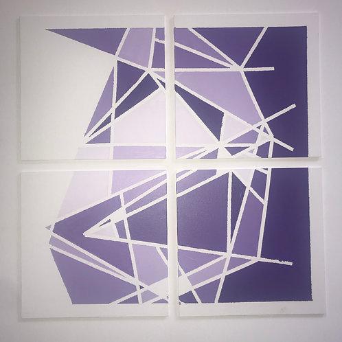 "Four 10""x10"" panel Purple Wall"