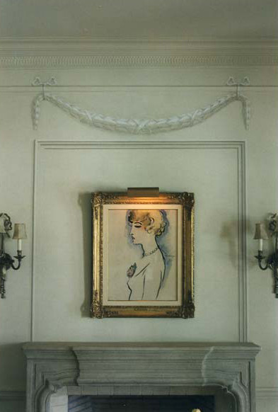 Grisaille garland and molding