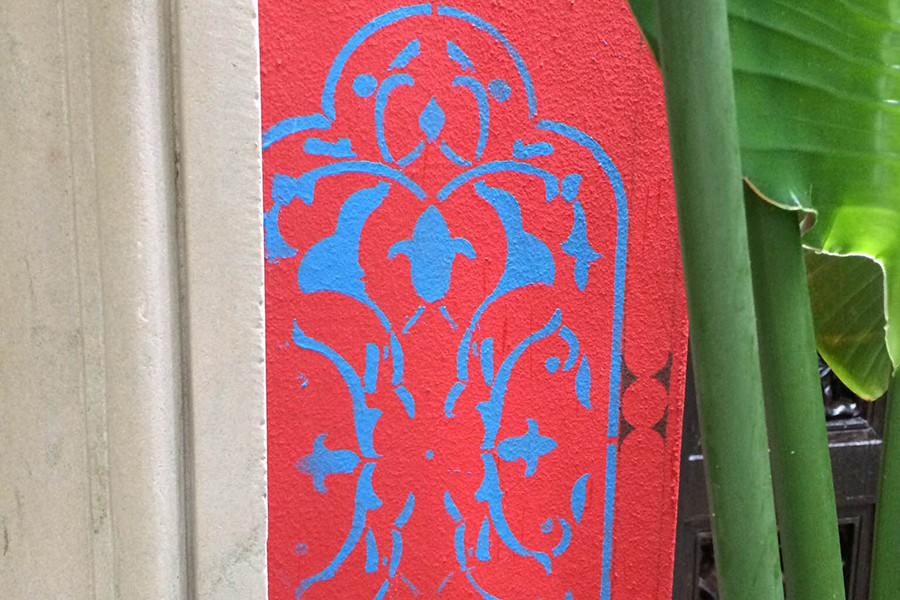 Palm Beach exterior stenciling detail