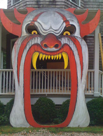Twelve foot clown head for the entrance to the Haunted Mulford Farm