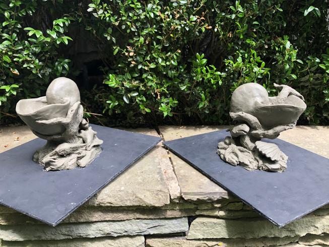 Concept maquettes for fountain