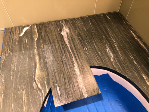 Faux marble to match vanity
