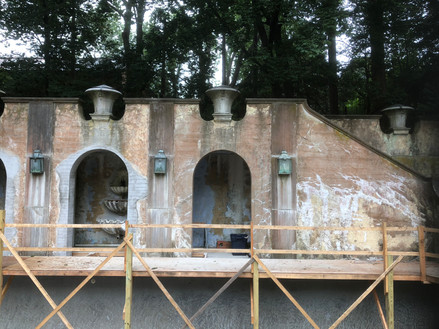 Aging of new concrete arches