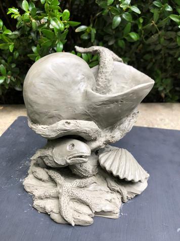 Concept maquette for fountain