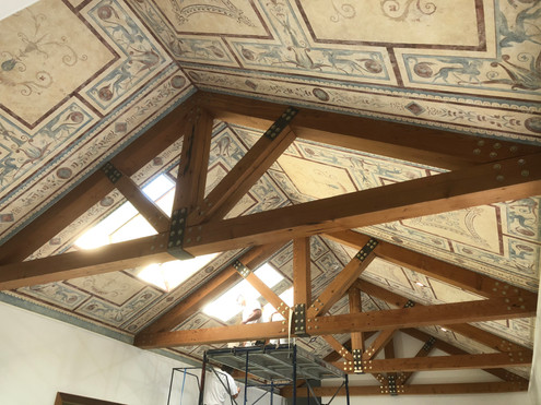 Ornate panels on canvas inspired by domus aurea