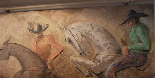 Detail of Turtle Crossing mural