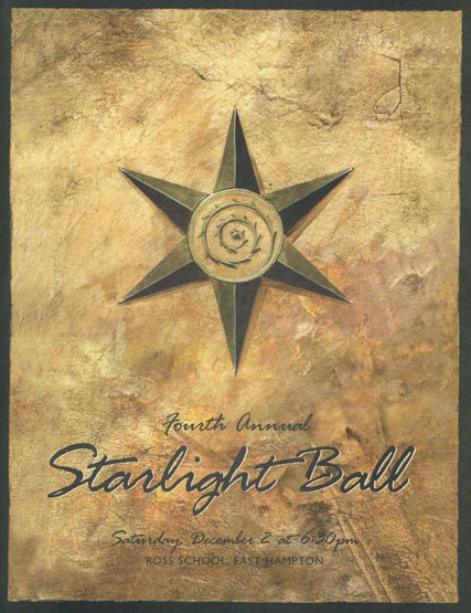 Starlight Ball program cover for the Ross School
