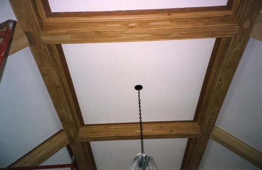 Faux bois on beams