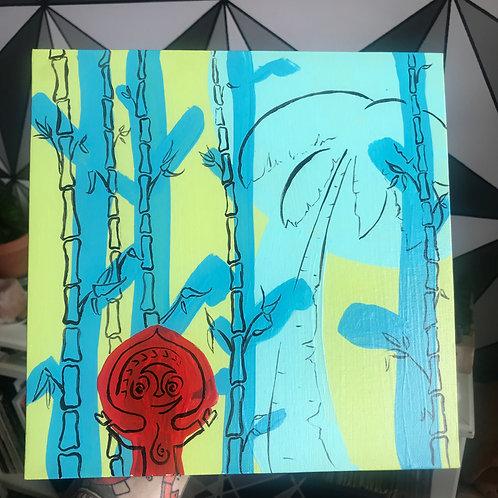 10 x 10 Polynesian inspired painting