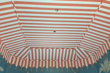 Palm Beach painted tent ceiling