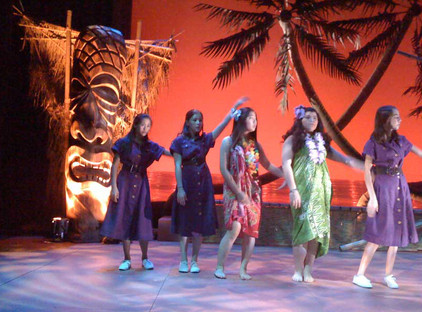 Set design and construction for 'South Pacific' at The Ross School