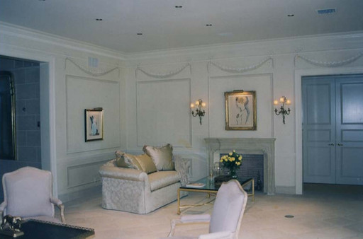Grisaille panels and garlands