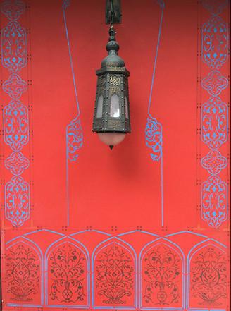 Exterior stenciling detail