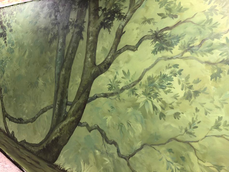 Dining room tree mural