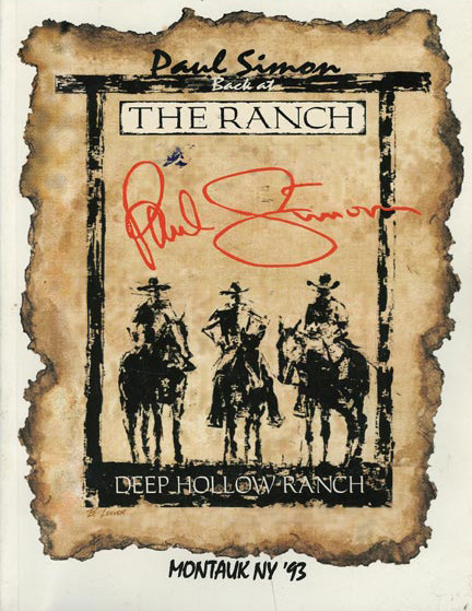 Back at the Ranch concert program cover