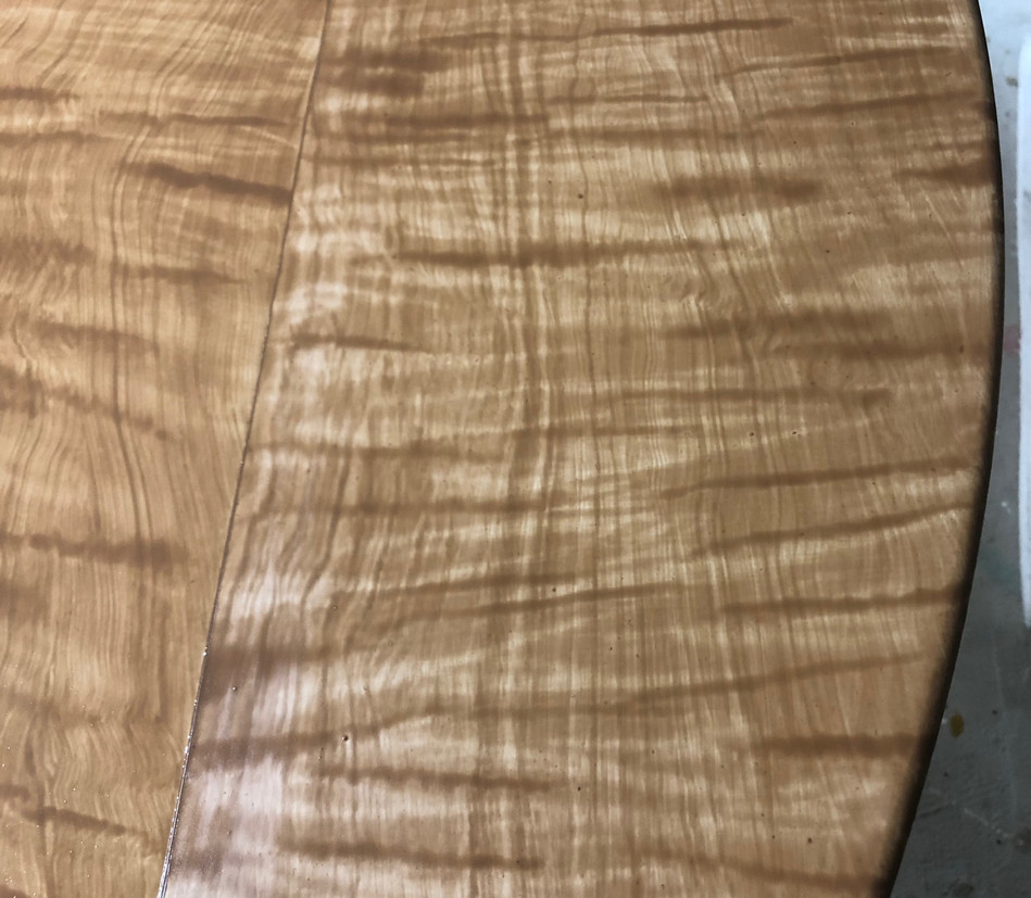Faux bois tiger maple
