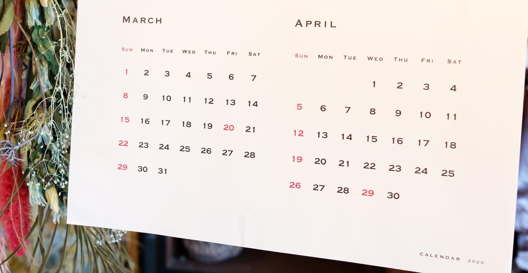 リングカレンダー A3サイズ