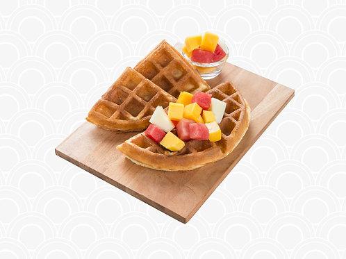415 Waffle w Mixed Fruits