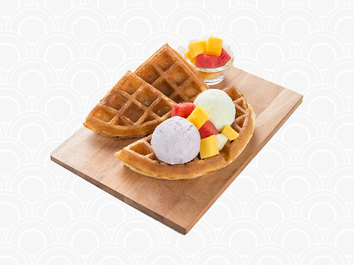 414 Waffle w Yam Honeydew Snowflake