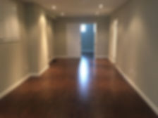 Newly installed basement flooring in Oakville, ON