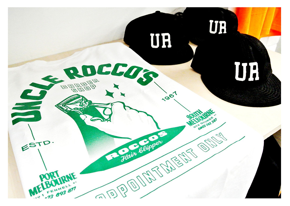 Uncle Roccos branding through streetwear