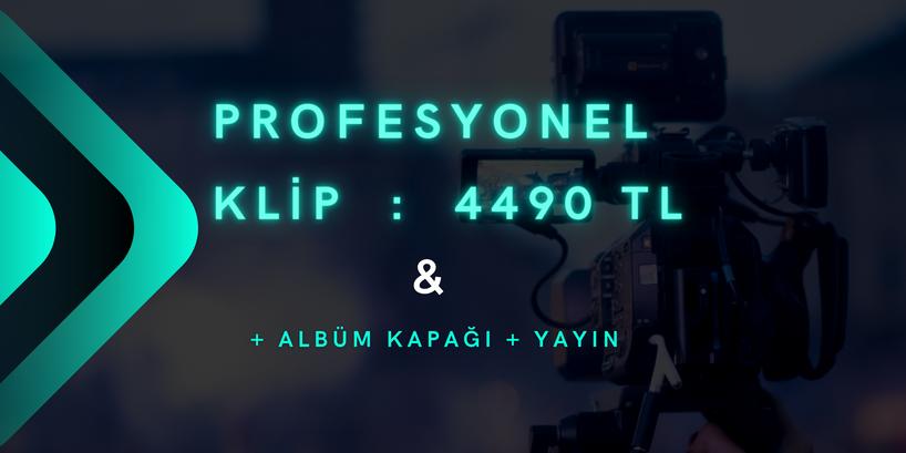 Profesonel Klip Çekimi + Albüm Kapağı + Yayın
