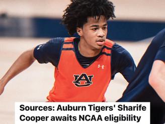 Auburn freshman PG Sharife Cooper awaits NCAA eligibility decision, overseas is an option