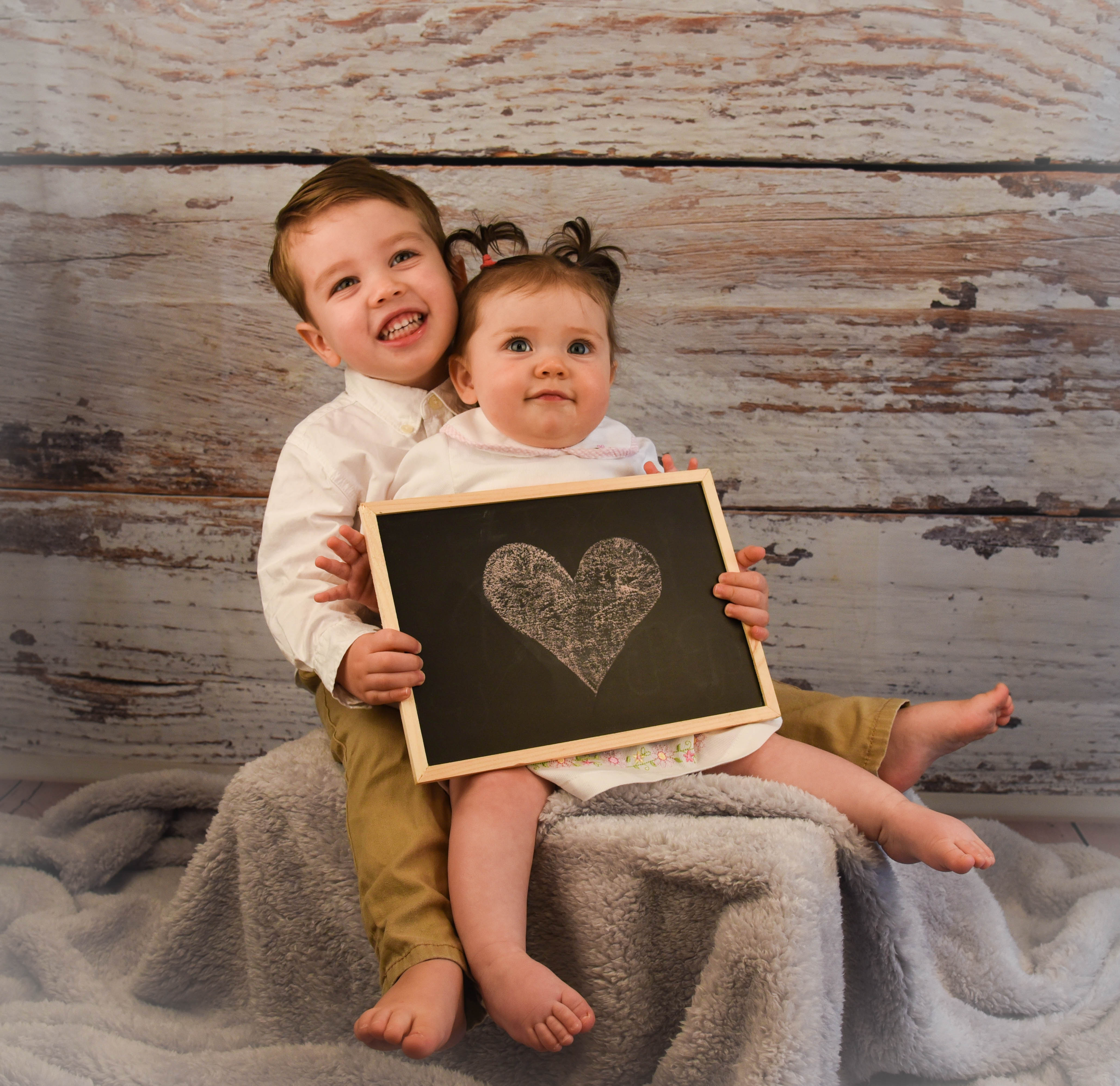 brother sister baby portrait