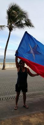 Bandera Chile, Salvador.