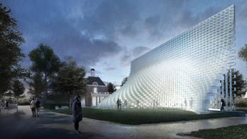 La Serpentine se pare d'une structure inspirée d'une fermeture éclair...