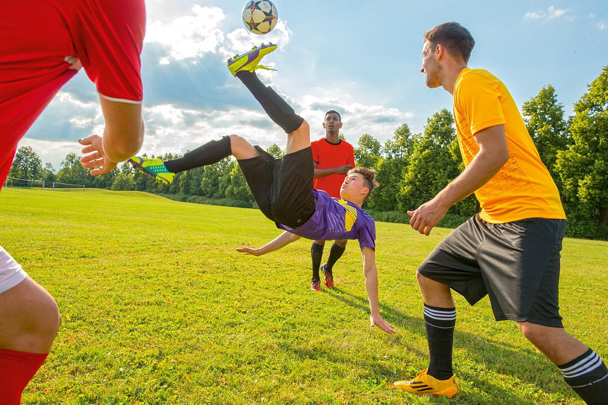 Fussball Freestyle Fotoshooting