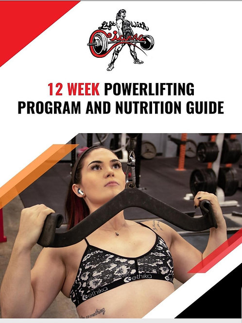 Lift With Ciarra - 12 Week Strength Program